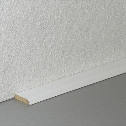 barre de seuil pour sol stratifi d cor blanc 240 cm x. Black Bedroom Furniture Sets. Home Design Ideas