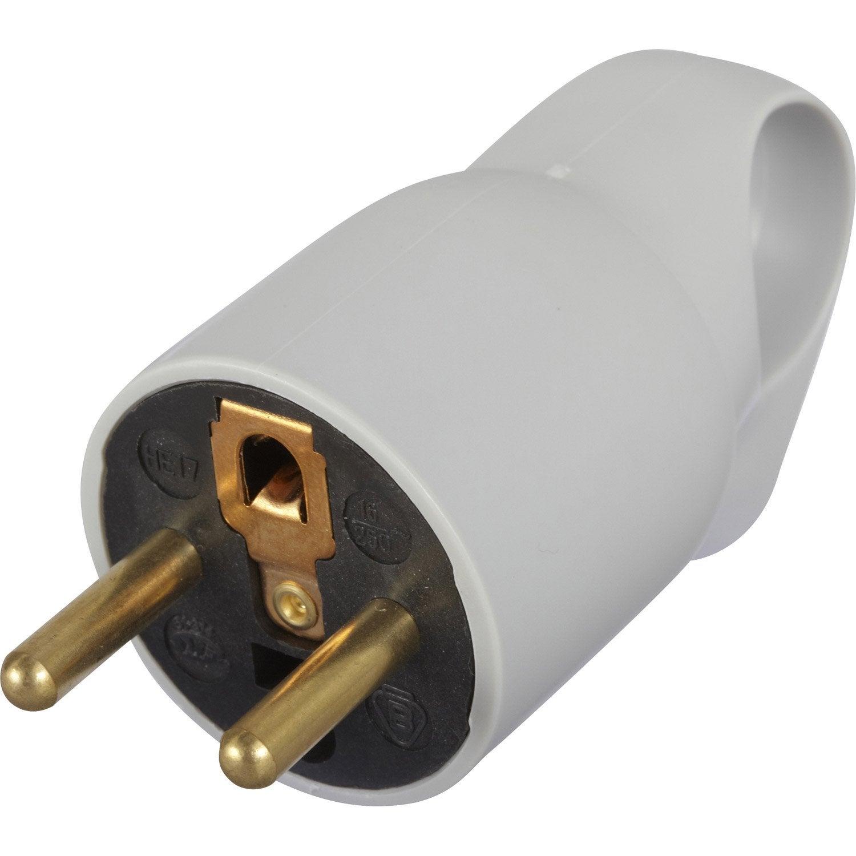 Schukostecker IP44 16A 230V VDE-Gummistecker 3pol Schuko-Schutzkontakt VDE