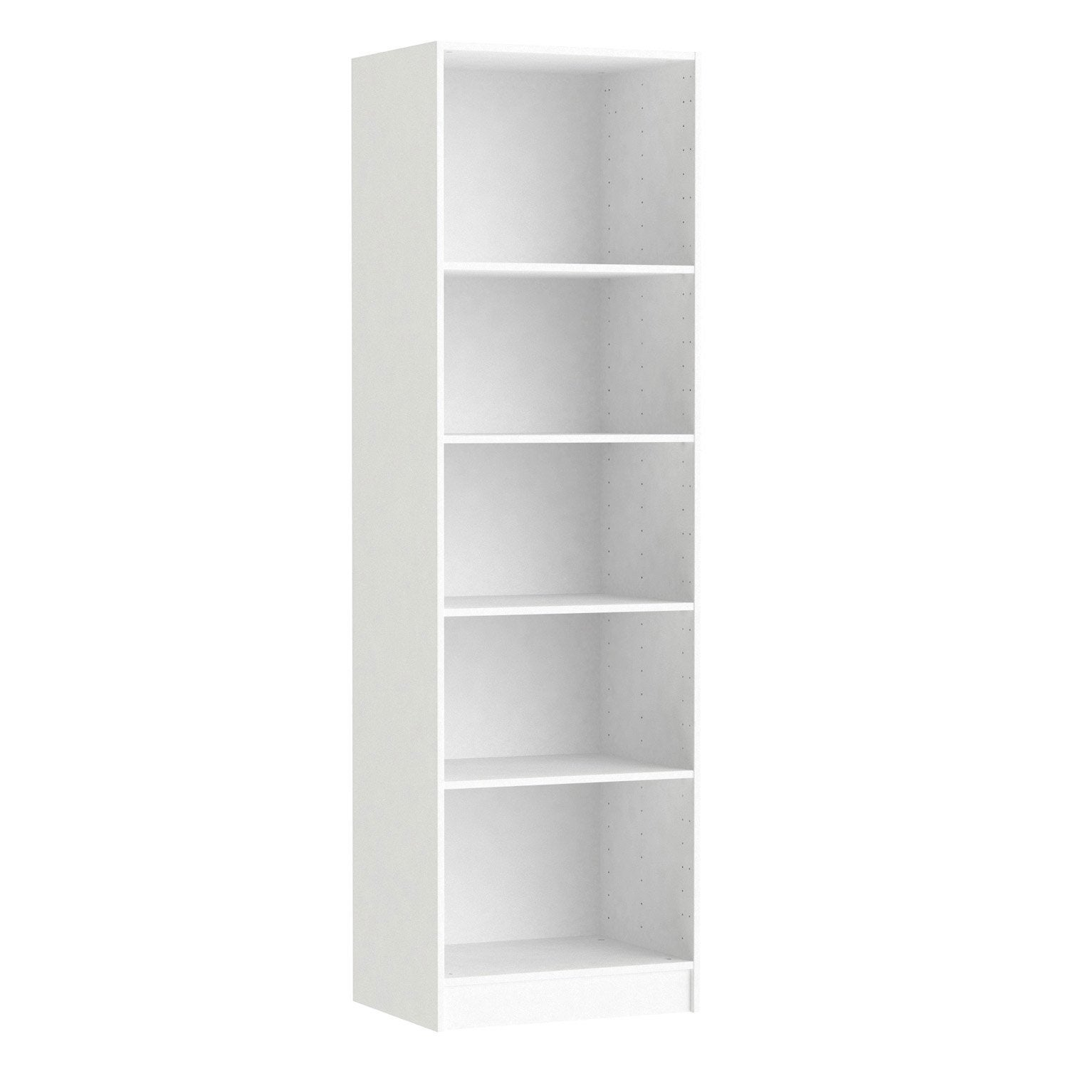 Caisson spaceo home 200 x 60 x 45 cm blanc leroy merlin for Bureau 60 cm de largeur
