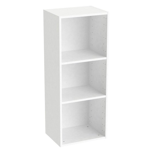 Caisson spaceo home 100 x 40 x 30 cm blanc leroy merlin for Dressing profondeur 40 cm