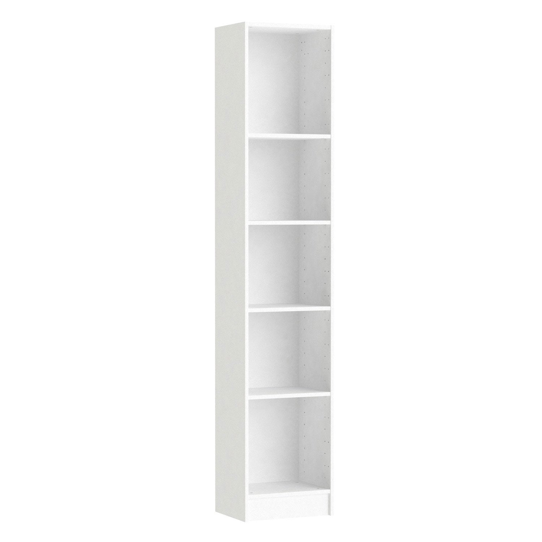 caisson spaceo home, blanc 200 x 40 x 30 cm | leroy merlin