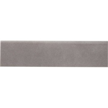 Lot de 5 plinthes Camben gris, l.7 x L.30 cm