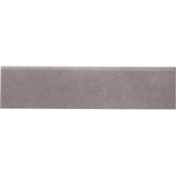 Lot de 5 plinthes Camben gris, l.7 x L.30 cm