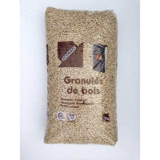 Granul s de bois ecobati en sac 15 kg leroy merlin - Granules de bois bricomarche ...