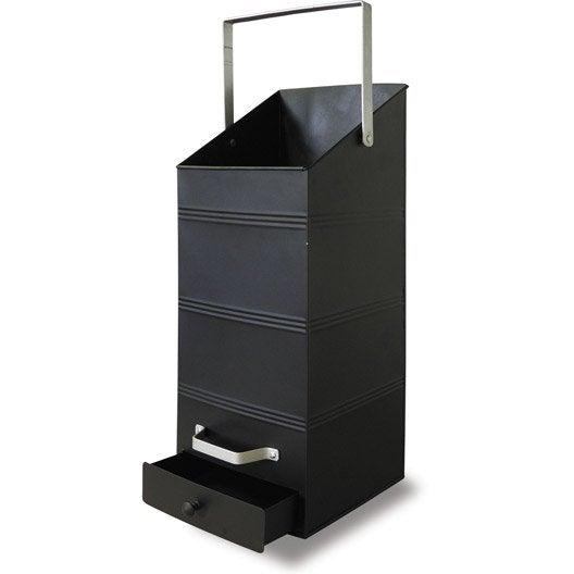 rangement pour bois ou granul s avec r cup rateur acier delta cm leroy merlin. Black Bedroom Furniture Sets. Home Design Ideas
