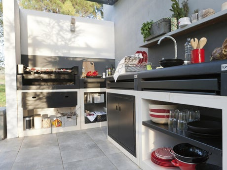 Bien choisir son barbecue fixe leroy merlin - Barbecue jardin fixe ...