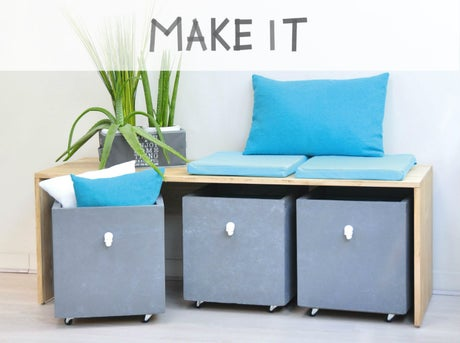 cr er un banc de rangements leroy merlin. Black Bedroom Furniture Sets. Home Design Ideas
