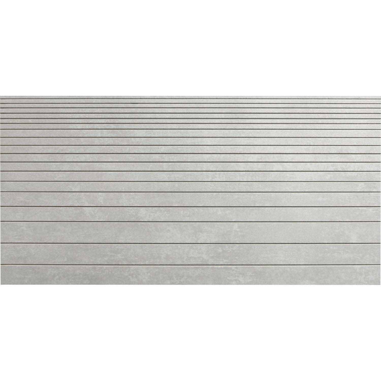 Carrelage sol et mur gris d cor tr sor incis x - Pose carrelage 60 x 30 sol ...