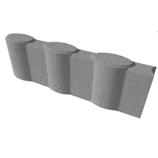 bordure droite olivette b ton gris x cm leroy merlin. Black Bedroom Furniture Sets. Home Design Ideas