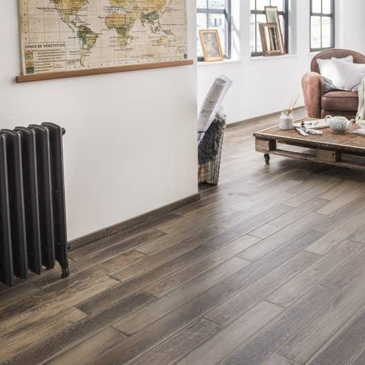 carrelage sol et mur naturel effet bois lousiane x cm leroy merlin. Black Bedroom Furniture Sets. Home Design Ideas