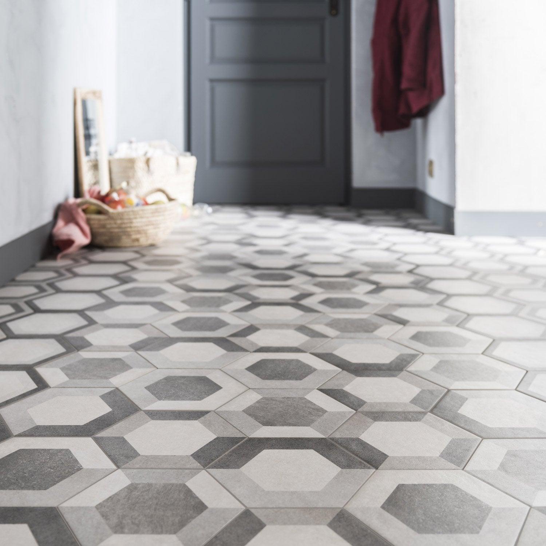 Carrelage sol et mur gris blanc effet b ton time x for Carrelage gris beton