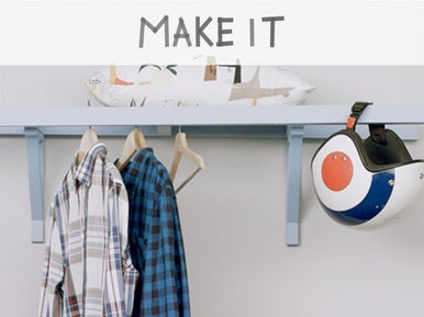 diy fabriquer une penderie partir d une chelle leroy merlin. Black Bedroom Furniture Sets. Home Design Ideas