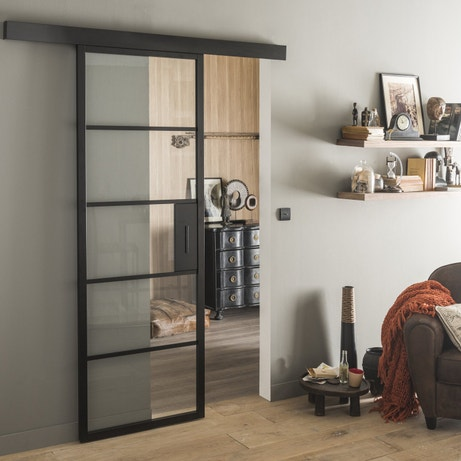 inspiration porte coulissante contemporaine leroy merlin. Black Bedroom Furniture Sets. Home Design Ideas