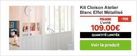 Porte de placard et cloison standard et personnalisable for Cloison amovible atelier noir