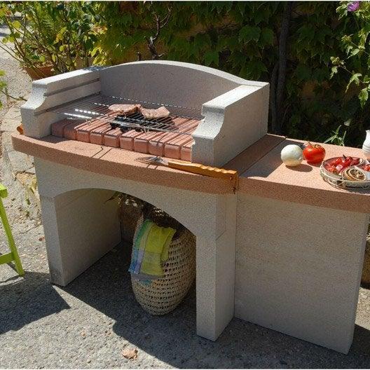 barbecue en b ton blanc lub ron x x cm. Black Bedroom Furniture Sets. Home Design Ideas