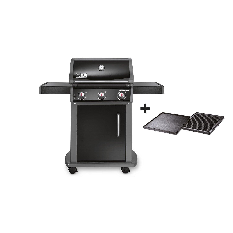 barbecue au gaz weber spirit original e-310, noir | leroy merlin