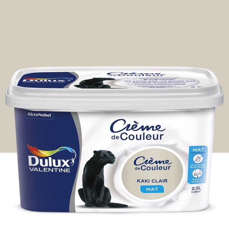 Peinture Kaki Clair Mat Dulux Valentine Crème De Couleur 2 5 L