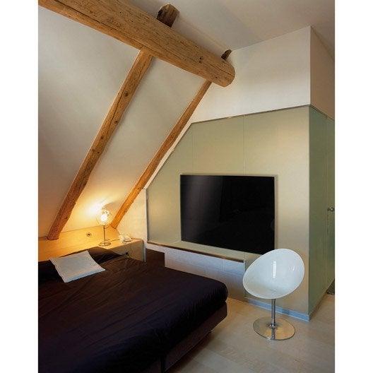 radiateur lectrique rayonnement ecosun glass 900w noir r gul radio 900w leroy merlin. Black Bedroom Furniture Sets. Home Design Ideas