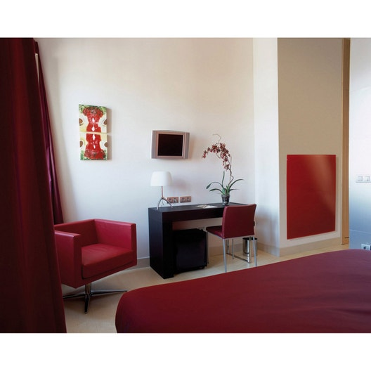 radiateur lectrique rayonnement ecosun glass 500 w leroy merlin. Black Bedroom Furniture Sets. Home Design Ideas