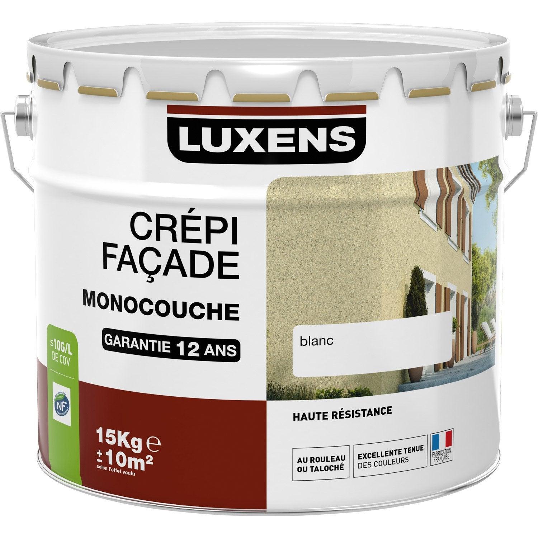Crépis Façade LUXENS, Blanc, 15 Kg