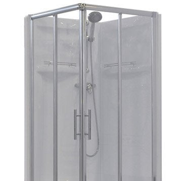 Cabine de douche carré 80x80 cm, Dana