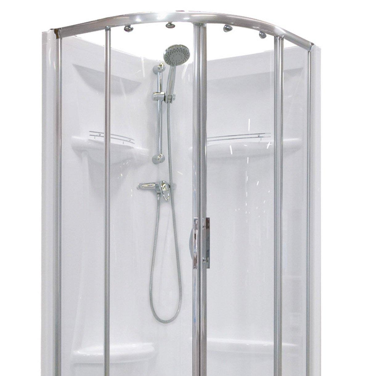 cabine de douche quart de cercle