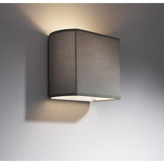 applique pavie 1 x 60 w tissu gris galet n 3 inspire. Black Bedroom Furniture Sets. Home Design Ideas