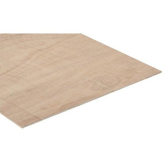Panneau contreplaqu ordinaire ep 5 mm x x cm leroy merlin - Panneau bois agglomere ...
