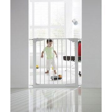 Barrière de sécurité enfant MUNCHKIN métal, L.75/82 cm, H.75 cm