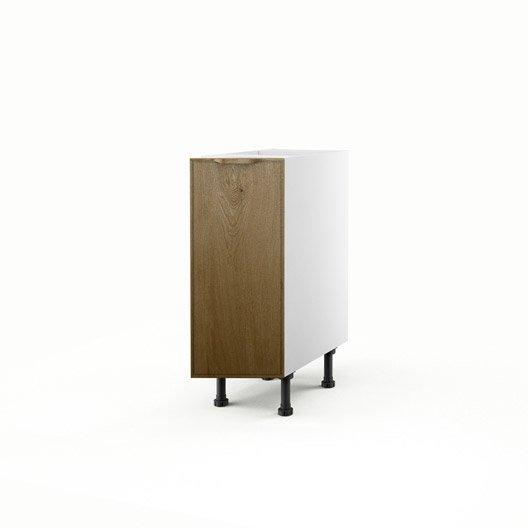 Meuble de cuisine bas ch ne 1 porte origine x x for Meuble bas cuisine 30 cm largeur