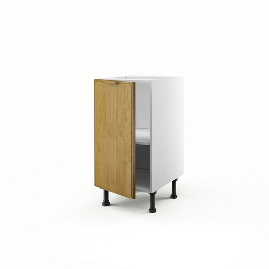 meuble de cuisine bas ch ne 1 porte origine h70xl40xp56 cm leroy merlin. Black Bedroom Furniture Sets. Home Design Ideas