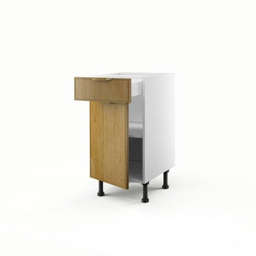 Meuble de cuisine bas ch ne 1 porte 1 tiroir origine h - Meuble bas cuisine 40 cm ...