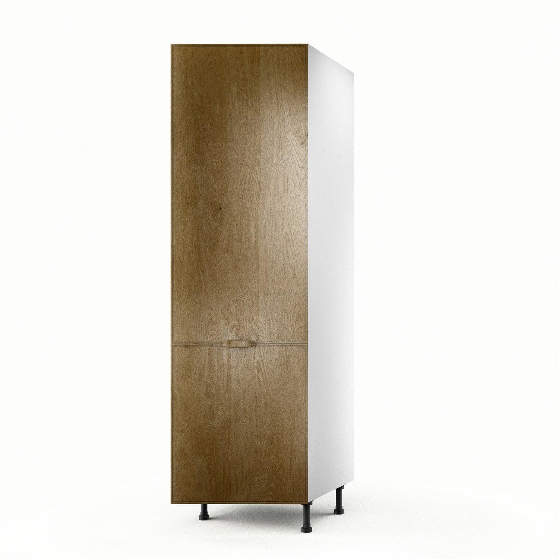 Meuble de cuisine colonne ch ne 1 porte origine x l for Porte de cuisine hauteur 60 cm