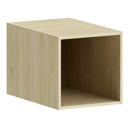 caisson d cor ch ne spaceo home x x cm leroy merlin. Black Bedroom Furniture Sets. Home Design Ideas