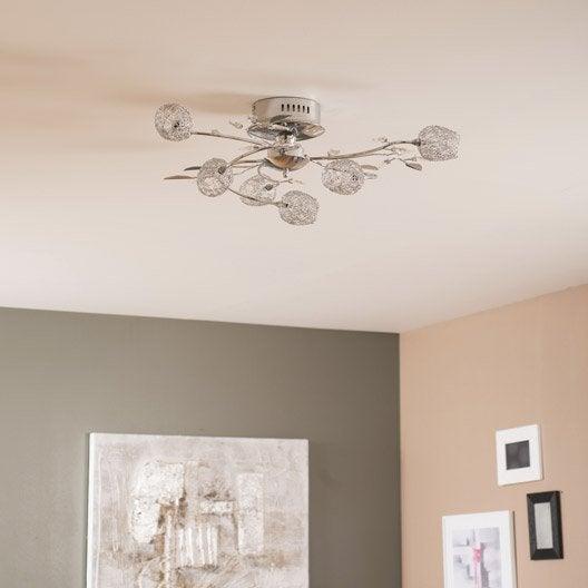 Plafonnier lustre suspension et plafonnier leroy merlin - Plafonnier design pour salon ...