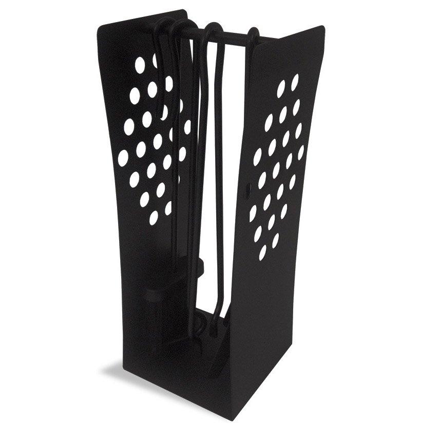 Serviteur acier noir delta stylux 4 accessoires leroy merlin - Serviteur poele a bois ...
