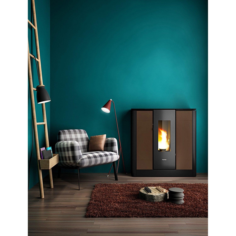po le granul s freepoint style moka 9 kw leroy merlin. Black Bedroom Furniture Sets. Home Design Ideas