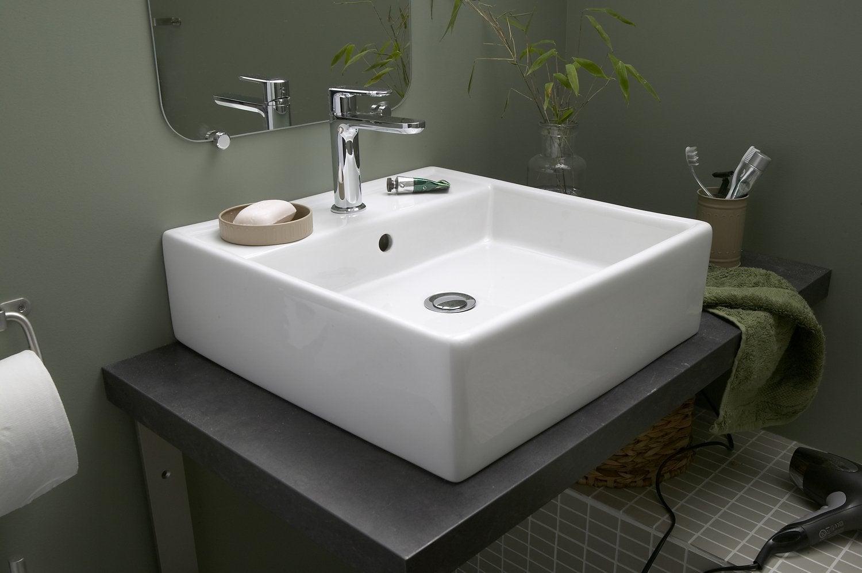vasque a poser salle de bain Une vasque à poser carré design