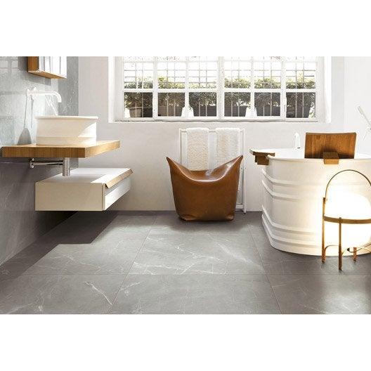 carrelage sol et mur gris effet marbre rimini x cm leroy merlin. Black Bedroom Furniture Sets. Home Design Ideas
