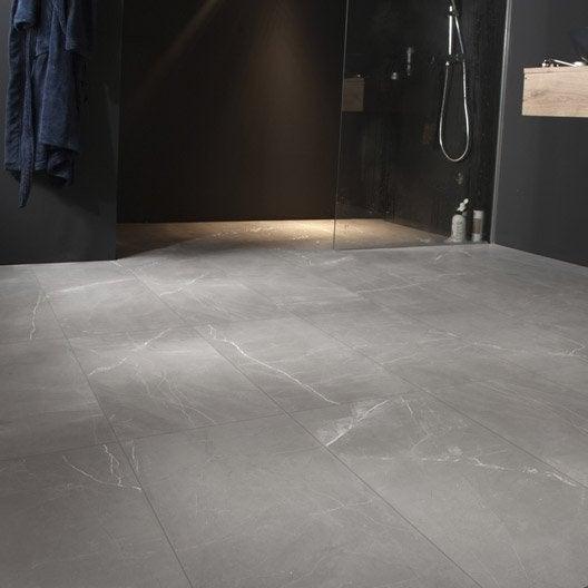 Carrelage sol et mur gris effet marbre rimini x for Carrelage marbre prix