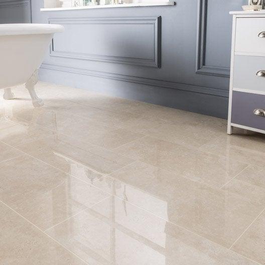 Carrelage sol et mur marfil effet marbre rimini x l - Pose carrelage 60 x 30 sol ...
