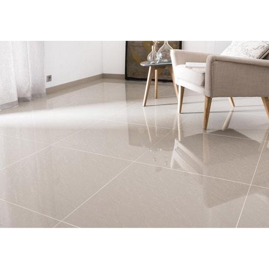 53f0ab837a Carrelage sol et mur intenso effet marbre beige l.60 x L.60 cm