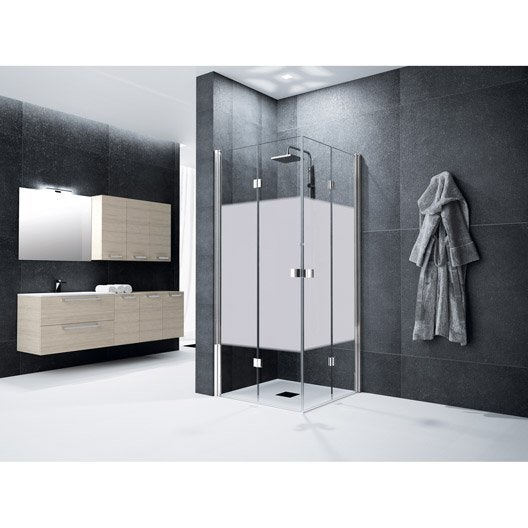 porte de douche angle carr cm x cm s rigraphi neo leroy merlin. Black Bedroom Furniture Sets. Home Design Ideas