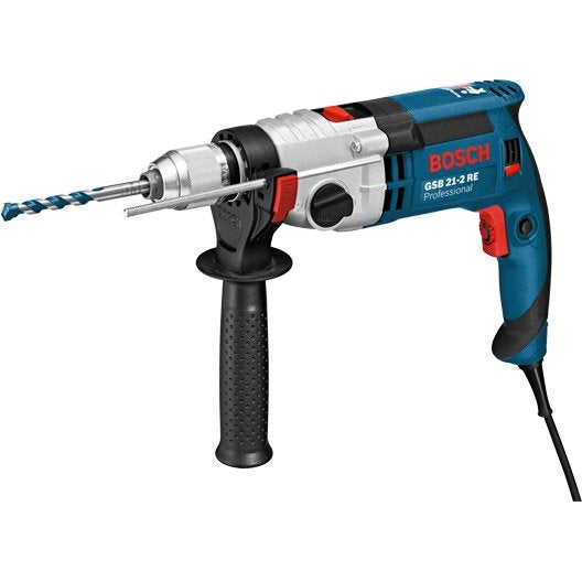Perceuse à percussion filaire BOSCH Professional gsb 21-2 re, 1100 W