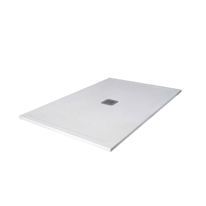 receveur de douche rectangulaire x cm pierre blanc osaka2 leroy merlin. Black Bedroom Furniture Sets. Home Design Ideas