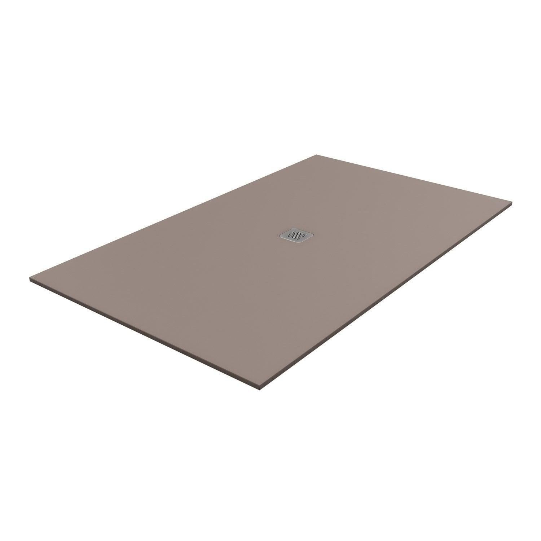 Receveur de douche rectangulaire x cm pierre marron kioto2 leroy merlin - Receveur de douche 80 120 ...