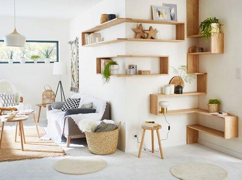 cc902a9837a1b7 Le choix du bois clair, en harmonie avec le reste de la pièce joue aussi un  rôle important dans l aspect décoratif.