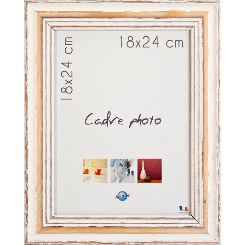Cadre Amélie L 18 X H 24 Cm Bois Blanc