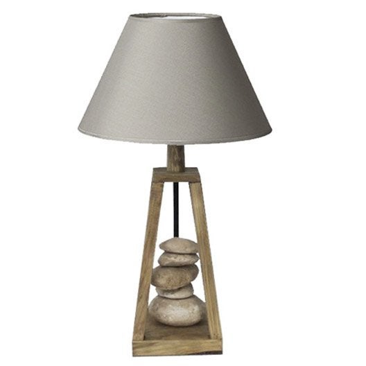 lampe georgia seynave coton chanvre 60w leroy merlin. Black Bedroom Furniture Sets. Home Design Ideas