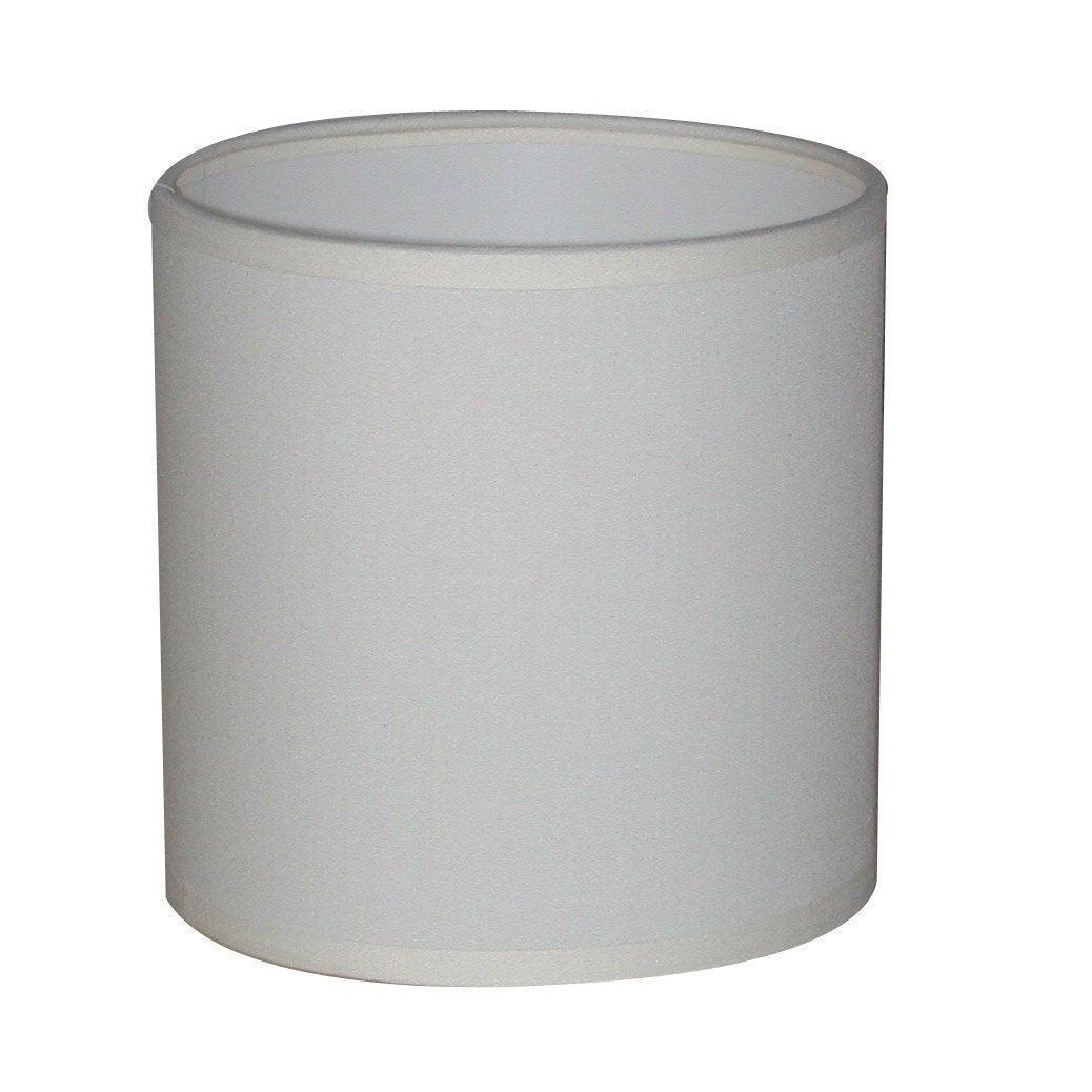 Abat-jour Tube, 18 cm, toiline, blanc-blanc n°0 INSPIRE